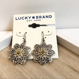Lucky Brand floral drop earrings - new